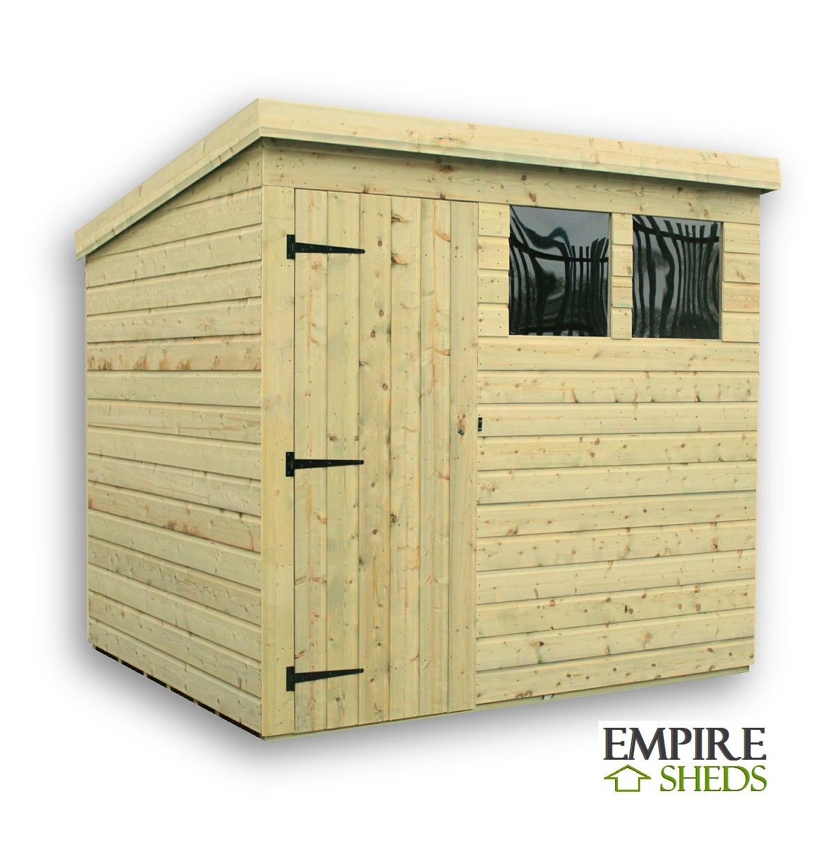 Empire Pent Shed 10X4 Pressure Treated Tongue And Groove Door Right